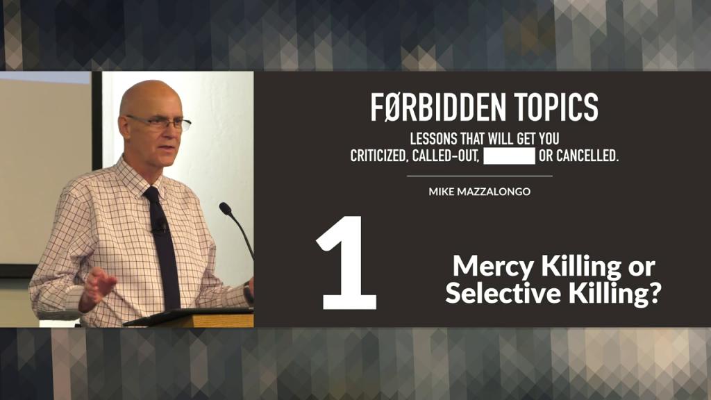 Mercy Killing or Selective Killing?